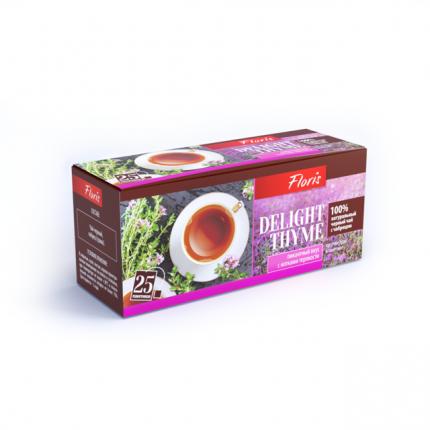 Чай черный Floris delight thyme с чабрецом 25 пакетиков