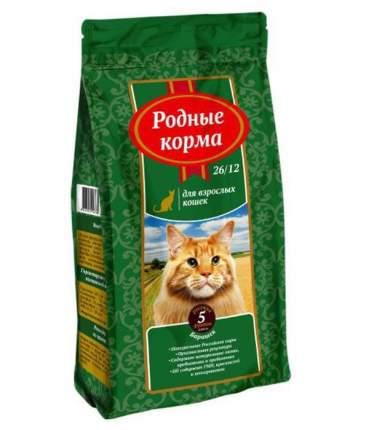 Сухой корм для кошек Родные корма, барашек, 2,045кг