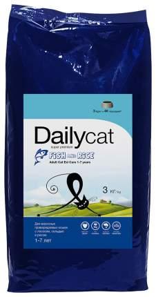Сухой корм для кошек Dailycat Adult, сельдь, лосоь и рис, 1,5кг