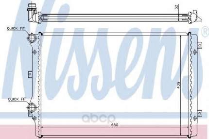 Радиатор охлаждения двигателя Nissens 65279A