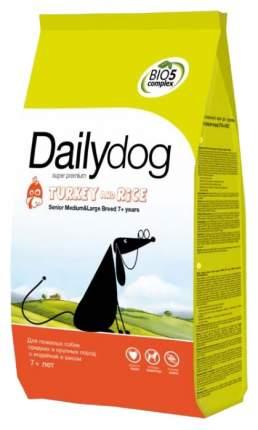 Сухой корм для собак Dailydog Senior Medium Large Breed, для пожилых, индейка и рис, 3кг