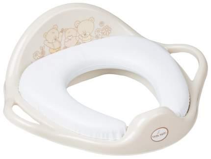 Накладка на унитаз Tega Baby мягкое Мишка бежевый