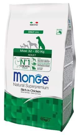 Сухой корм для собак Monge Daily Line Maxi, для крупных пород, курица, 12кг