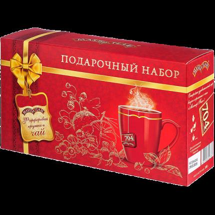 Подарочный набор Master Team фарфоровая кружка и чай 25 пакетиков
