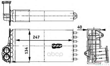 Теплообменник, отопление салона легковой автомобиль Hella 8FH351311-341