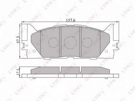 Комплект тормозных дисковых колодок LYNXauto BD-7530