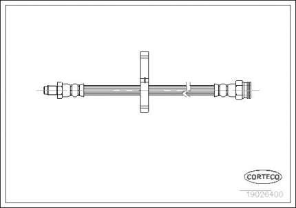 Шланг тормозной CORTECO 19026400