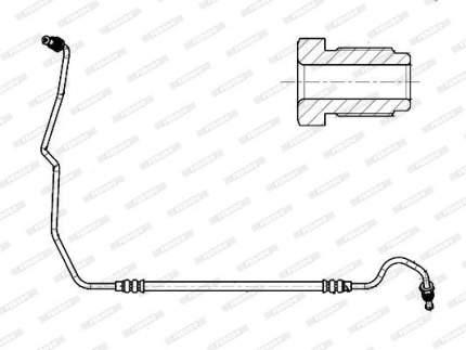 Шланг тормозной FERODO FHY3354