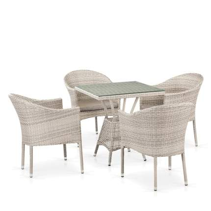 Комплект плетеной мебели T706/Y350-W85 4Pcs Latte