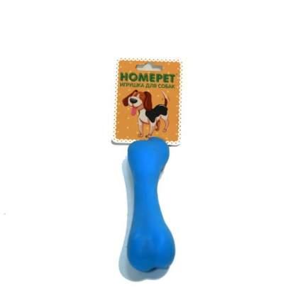 Жевательная игрушка для собак HOMEPET Косточка, голубой, розовый, длина 12.3 см