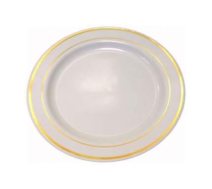 Набор одноразовых тарелок Horeca Select С золотым ободком 190 мм, 20шт