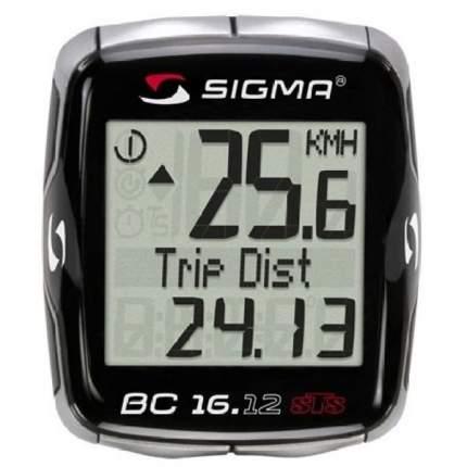 Велокомпьютер Sigma BC 16.12 STS CAD серебристо-черный