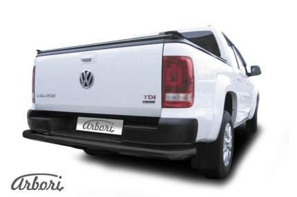 Защита заднего бампера d76 Arbori черный для Volkswagen AMAROK 2016