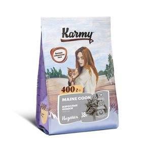 Сухой корм для котят Karmy Maine Coon Kitten, мейн-кун, индейка, 0,4кг