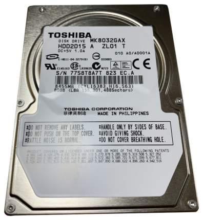 Внутренний жесткий диск Toshiba 80GB (MK8032GAX)