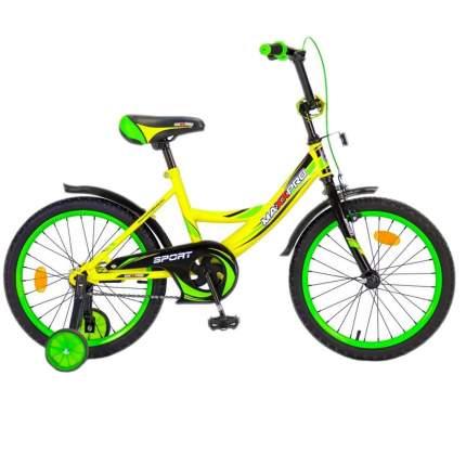 """Детский велосипед двухколесный MaxxPro Sport 18"""" желтый"""