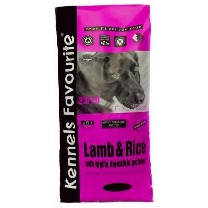 Сухой корм для собак Kennels Favourite, ягненок и рис, 20кг
