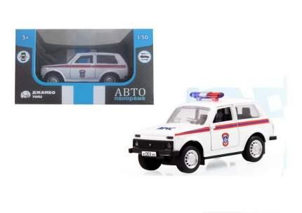 Машинка металлическая Автопанорама МЧС, белая (1:50) 1200057
