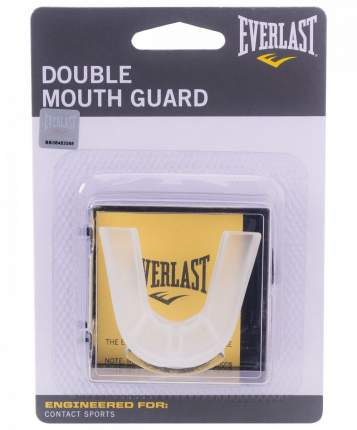 Капа Everlast Double 4410E, 2-челюстная, прозрачная, в коробке