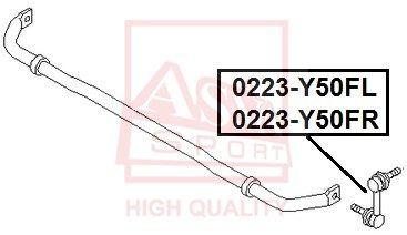 Стойка стабилизатора ASVA 0223-Y50FL