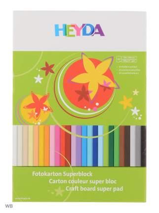 Brunnen Альбом Brunnen с цветным картоном, 25 листов, 25 цветов, 240 х 340 мм, 300 гр