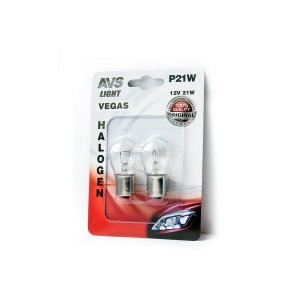 Лампа AVS Vegas в блистере 12V. P21W(BA15S) A78475S