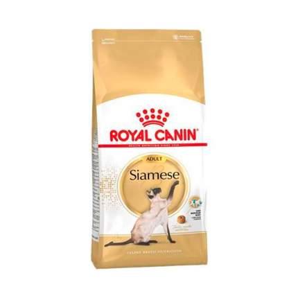 Сухой корм для кошек ROYAL CANIN Siamese Adult, сиамская, домашняя птица, 0,4кг