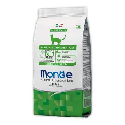 Сухой корм для кошек Monge Monoprotein, монопротеиновый, кролик, 10кг