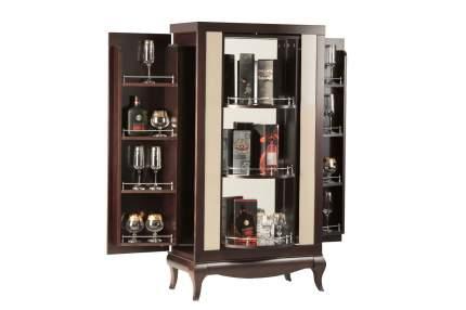 Платяной шкаф Hoff Лавиано 80317837 76,4х38,8х143,2, венге/американский орех/агат