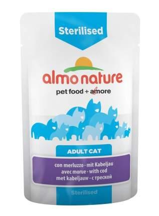 Влажный корм для кошек Almo Nature Holistic Sterilised, рыба, 30шт, 70г