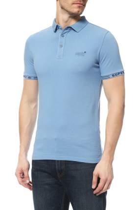 Поло мужское Superdry голубое XL