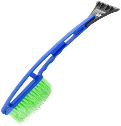 MEGA-IS Удлиненная щетка для очистки от снега со скребком для очистки льда (синяя/серая)