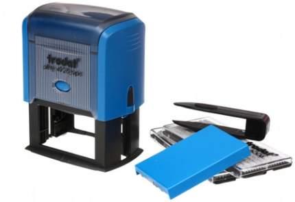 Штамп самонаборный 7-строчный TRODAT 4928/DB (Австрия), корпус синий, кассы в комплекте