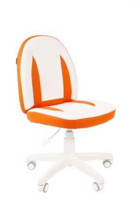Кресло Chairman Kids 122 Россия экопремиум белый/оранжевый