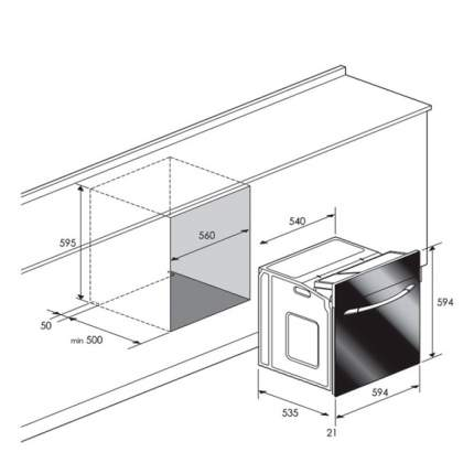Встраиваемый газовый духовой шкаф Candy FLG 202/1W White