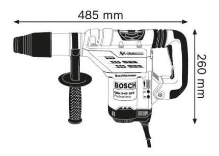 Сетевой перфоратор Bosch GBH 5-40 DCE 611264000