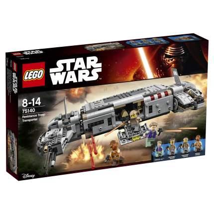 Конструктор LEGO Star Wars Военный транспорт Сопротивления (75140)