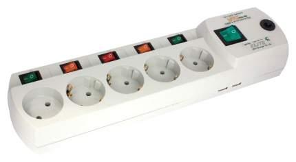 Сетевой фильтр MOST Elite ERG 5, 5 розеток, 2 м, White