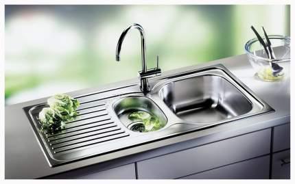 Мойка для кухни из нержавеющей стали Blanco Tipo 6 S Basic 512303 сталь матовая