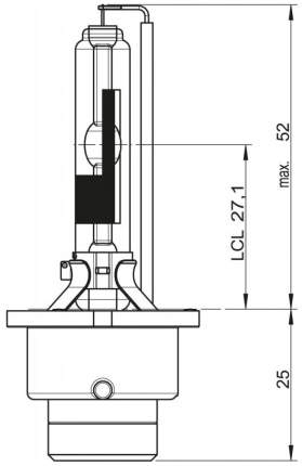 Лампа ксеноновая автомобильная OSRAM D4R 35W (66450)