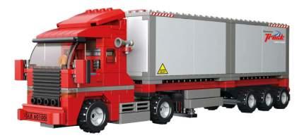 Конструктор пластиковый Sluban Большой красный грузовик