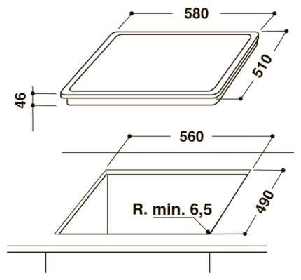 Встраиваемая варочная панель электрическая Hotpoint-Ariston HAR 642 D F Black