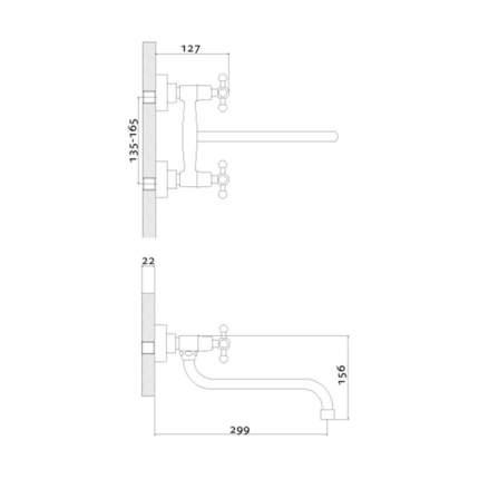 Смеситель для кухонной мойки Rossinka Silvermix G02-74 хром