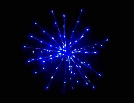 """Snowhouse Светодиодный """"Ежик"""", 40 см, 80 холодных белых и синих LED ламп TB-40-WB"""
