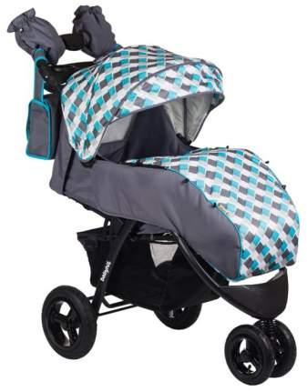 Прогулочная коляска BabyHit Voyage Air серая с голубым