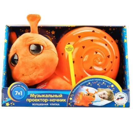 Мягкая игрушка Мульти-Пульти Проектор-Ночник Улитка
