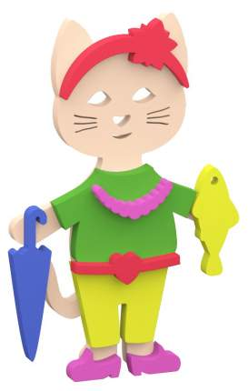 Интерактивная игрушка для купания El basco Набор аква одевашка кошка 02-002