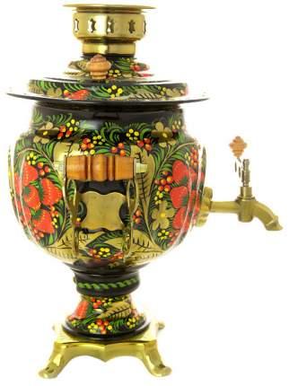Набор самовар 3 л электрический с росписью Хохлома классическая с чайным сервизом