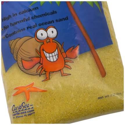Натуральный песок для аквариумов CaribSea Crabitat для раков-отшельников, желтый, 1кг 0,9л