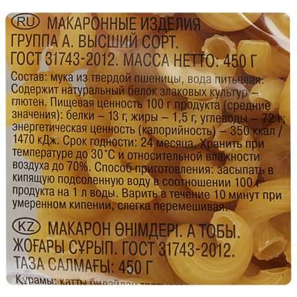 Макароны Шебекинские русский рожок 450 г